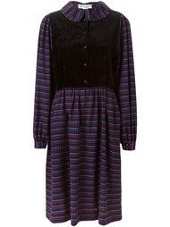 платье с контрастной панелью-жилеткой Lanvin Vintage