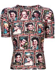 топ с лицами людей Jean Paul Gaultier Vintage