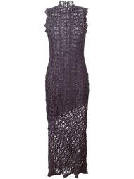 длинное кружевное платье John Galliano Vintage