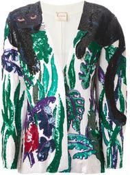 пиджак с принтом в пайетках  Krizia Vintage