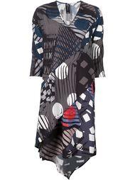платье с запахом и геометрическим узором Zero + Maria Cornejo