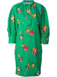 платье-рубашка с цветочным принтом Yves Saint Laurent Vintage