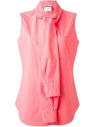 блузка с завязанными  декоративными рукавами Moschino