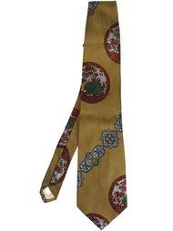 галстук с принтом Moschino Vintage
