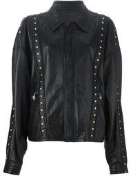кожаная куртка с заклёпками Versace Vintage