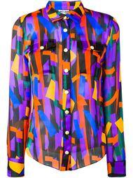 прозрачная рубашка Balmain