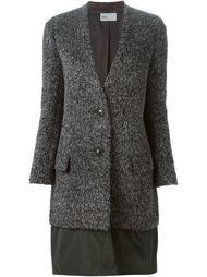 пальто с контрастным подолом Kolor