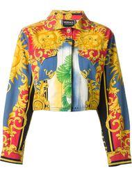 куртка с принтом в стиле барокко Versace Vintage