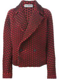 двубортная куртка с геометрическим узором Issey Miyake