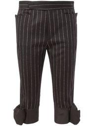 укороченные брюки с бантами Maison Margiela
