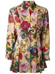 блузка-туника с цветочным принтом Kenzo Vintage