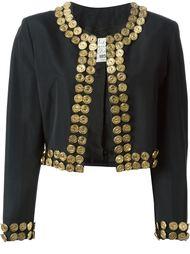 куртка с отделкой из металлических монет Moschino Vintage