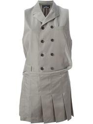 двубортный пиджак без рукавов Comme Des Garçons Vintage