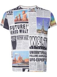 футболка с газетным принтом Walter Van Beirendonck Vintage