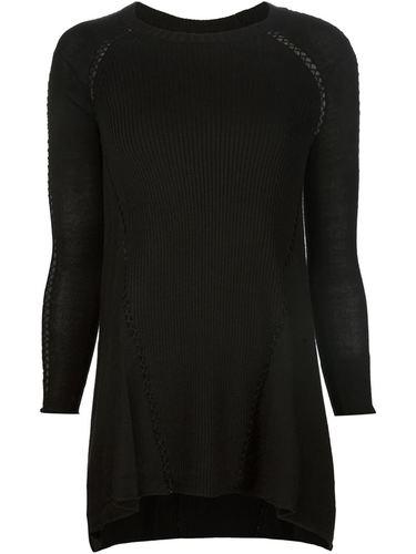 свитер в рубчик с открытыми швами Tess Giberson