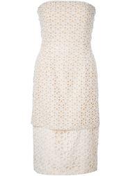 платье с цветочной вышивкой  Alexander McQueen