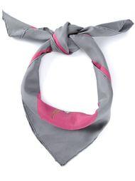 шарф с принтом лесных животных Hermès Vintage