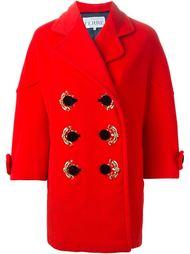 декорированное двубортное пальто Gianfranco Ferre Vintage