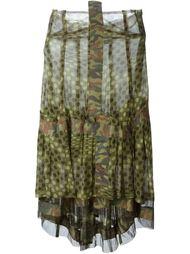 юбка с камуфляжным принтом и горошек  Comme Des Garçons Vintage