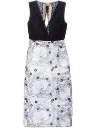 приталенное платье комбо с цветочным кружевом Nº21