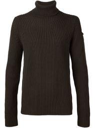 свитер в рубчик с отворотной горловиной Isabel Benenato