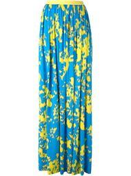 плиссированная юбка с абстрактным принтом   Emanuel Ungaro