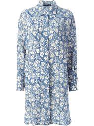 платье-рубашка с принтом винограда Louis Feraud Vintage