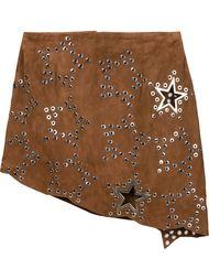 асимметричная юбка с люверсами Anthony Vaccarello