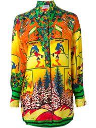рубашка с принтом хоккея Versace Vintage