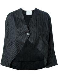 pinstripe cropped jacket  Société Anonyme