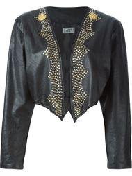 укороченная куртка с заклепками Versace Vintage
