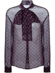 прозрачная блузка с принтом наушников Au Jour Le Jour
