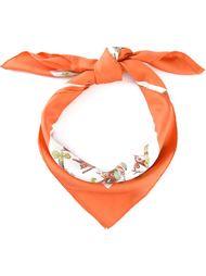 шарф с принтом птиц Hermès Vintage