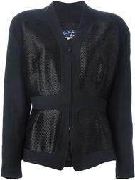 куртка с соломенными панелями Thierry Mugler Vintage