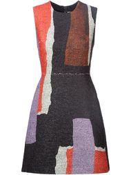 приталенное платье в стиле колор-блок Roksanda