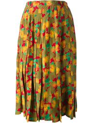 плиссированная юбка с цветочным принтом Jean Louis Scherrer Vintage