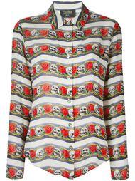 рубашка с черепами и розами Jean Paul Gaultier Vintage