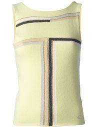 блузка без рукавов с рисунком Chanel Vintage