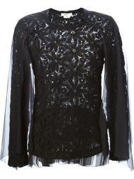 свитер ажурной вязки Comme Des Garçons