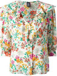 рубашка в цветочный принт Emanuel Ungaro Vintage
