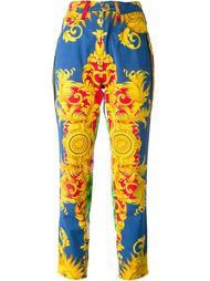 брюки с принтом в стиле барокко Versace Vintage