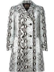 пальто с принтом змеиной кожи Roberto Cavalli