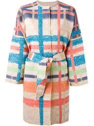 пальто в клетку с поясом Tsumori Chisato