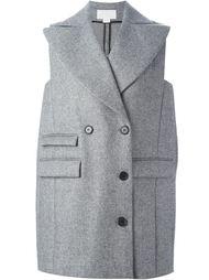 двубортное пальто без рукавов Antonio Berardi