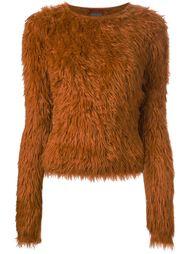 вязаный пушистый свитер Kenzo Vintage