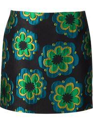мини-юбка с цветочной вышивкой Suno