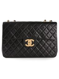 большая стеганая сумка на плечо Chanel Vintage