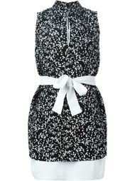 многослойное платье с поясом Gianluca Capannolo