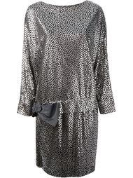 платье с металлическим блеском Lanvin Vintage