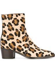 леопардовые сапоги по щиколотку Jean-Michel Cazabat